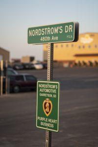 Nordstroms Auto Purple Heart Business